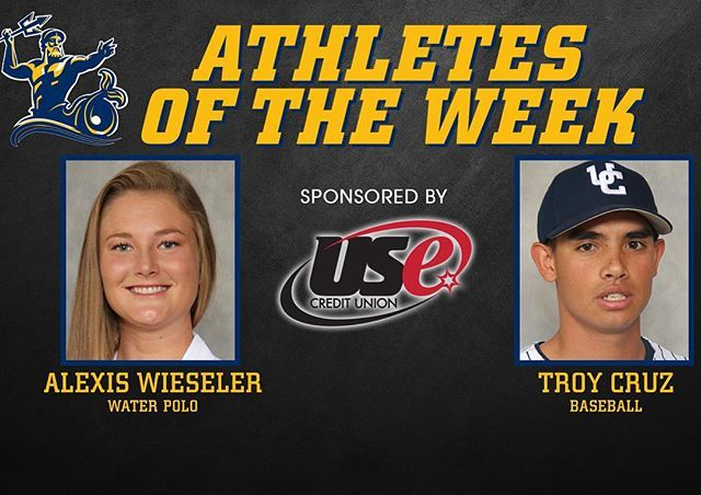 #UCSD Athletes of the Week are redshirt seniors Alexis Wieseler of No. 18 @ucsdwwp and Troy Cruz of No. 23 @ucsd_baseball. Alexis was Tournament MVP as she led her #Tritons to a fifth 🖐 straight #WWPAWomen 🏆, while Troy scattered ✌️ hits over 7️⃣ shutout innings in his second start of 2017. You've got ☝️ last chance to see both in #LaJolla this Saturday as #UCSD hosts an NCAA Championship opening-round game at Canyonview at 4️⃣ p.m., and it's #SeniorDay at Triton Ballpark beginning at 1️⃣…