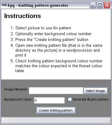 Free Knitting Pattern Generator. Upload your favorite photo and it will generate the pattern for you.