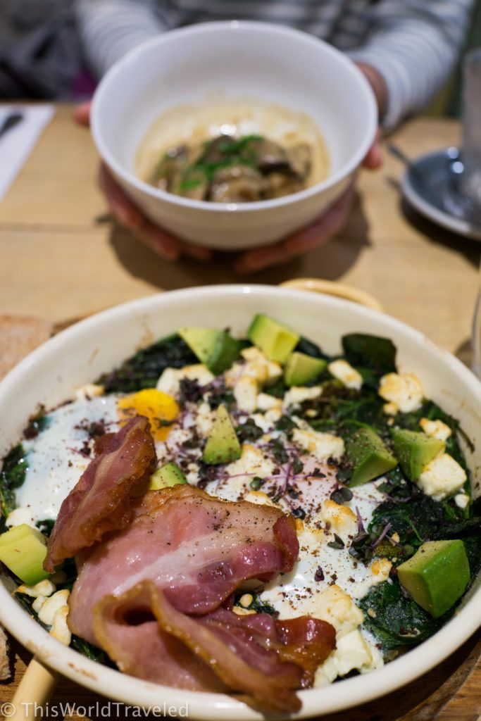 Eggs, bacon an avocado: what could be better? Delicious meals served at Bakers & Roasters in Amsterdam