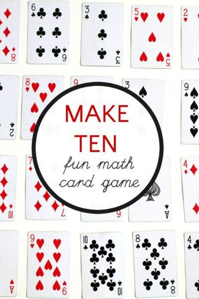 How to play make ten. A math card game for kids.