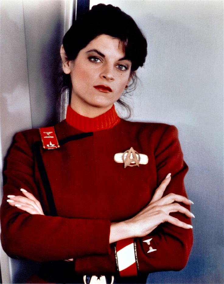 Kirsty Alley - Made her movie debut in 'Star Trek 2: The Wrath Of Khan' 1982. she was so pretty but in the search for spock a different actress played her and she looked like a boy. :(