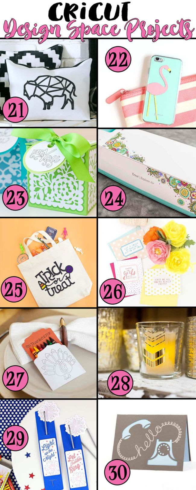 30 Cricut Project Ideas and I'm in love    With a Machine