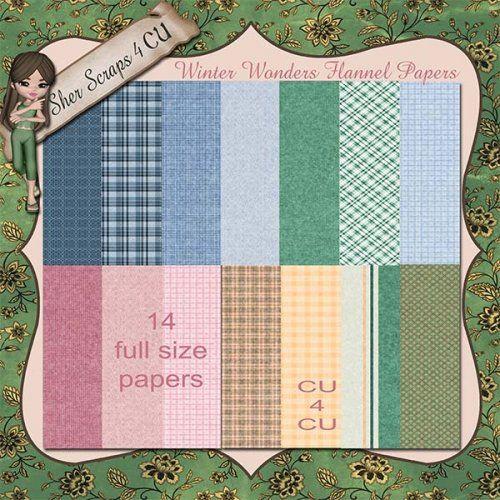 Winter Wonders Flannel Papers
