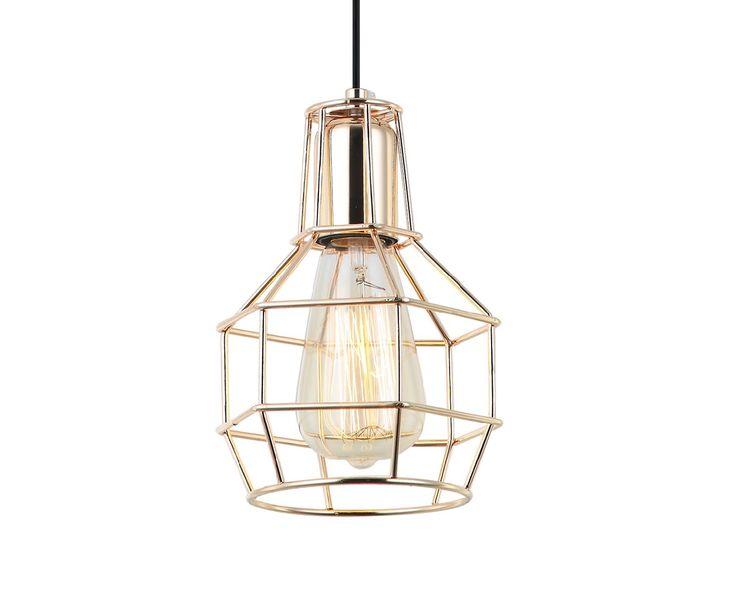 Comprar lámpara con jaula o rejilla color dorado #iluminacion #decoracion #retro