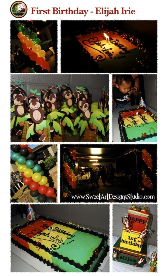 reggae birthday..only like the balloons