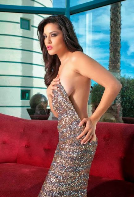 Sunny Leone look so sweet in silver Gown