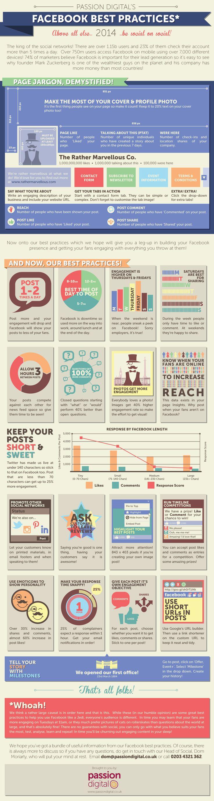 Facebook Best Practices for 2014 -   #Infographic #Facebook #SocialMedia