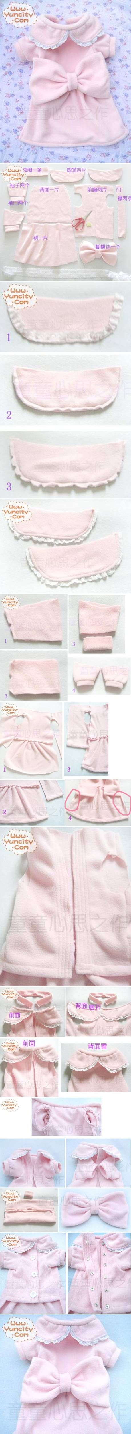 DIY Cute Dog Dress DIY Projects | UsefulDIY.com Follow Us on Facebook ==> http://www.facebook.com/UsefulDiy
