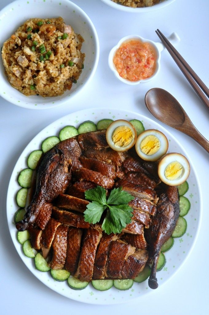 Braised duck with yam rice