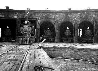 Colorado Midland Railroad ~ Round House, now home of Van Briggle Pottery ~ Colorado Springs Colorado ~ 1900
