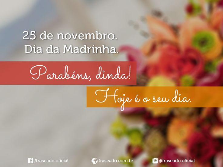 9 Melhores Imagens De Dia Da Madrinha (25.11) No Pinterest