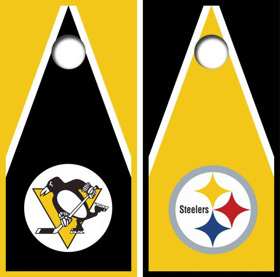 Pittsburgh Steelers Cornhole Board Wrap Set Gift Ideas