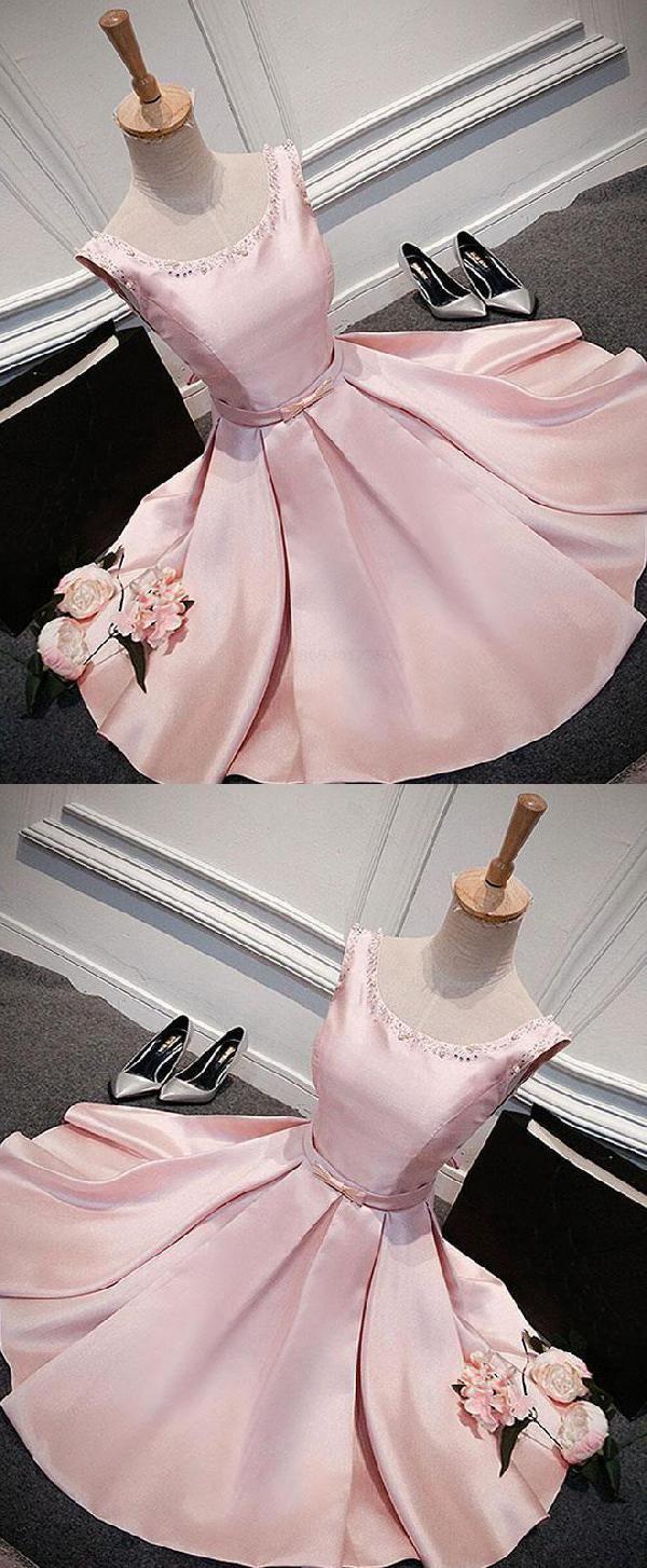 Custom made light prom dresses pink prom dresses short in