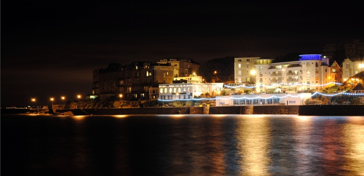 Weston-super-Mare seafront at night. Picture by Megan Haldane
