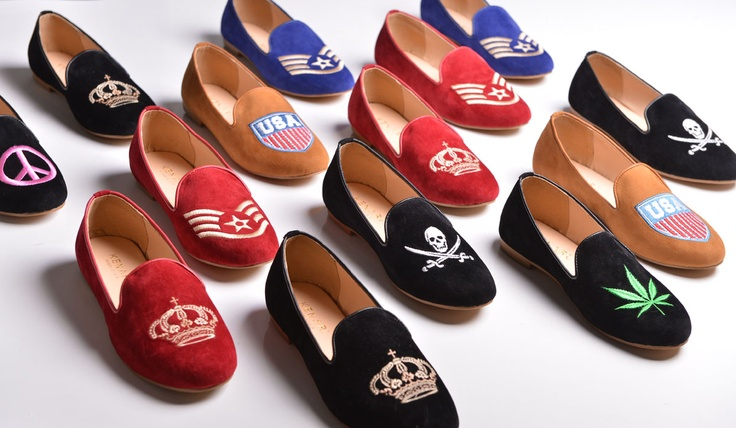 Embroidery Velvet Slippers