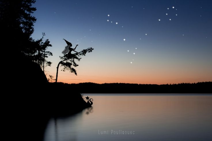 #Finland #Lac #Minuit #Constellation #Dessin #Draw #Ombre #Shadow #Fée #Fairy