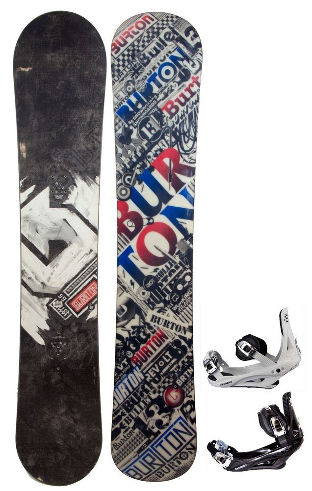 $600 Mens Burton Bullet Wide Snowboard & NEW Stealth Bindings Size 159CM 164CM #Burton5THElementBindings
