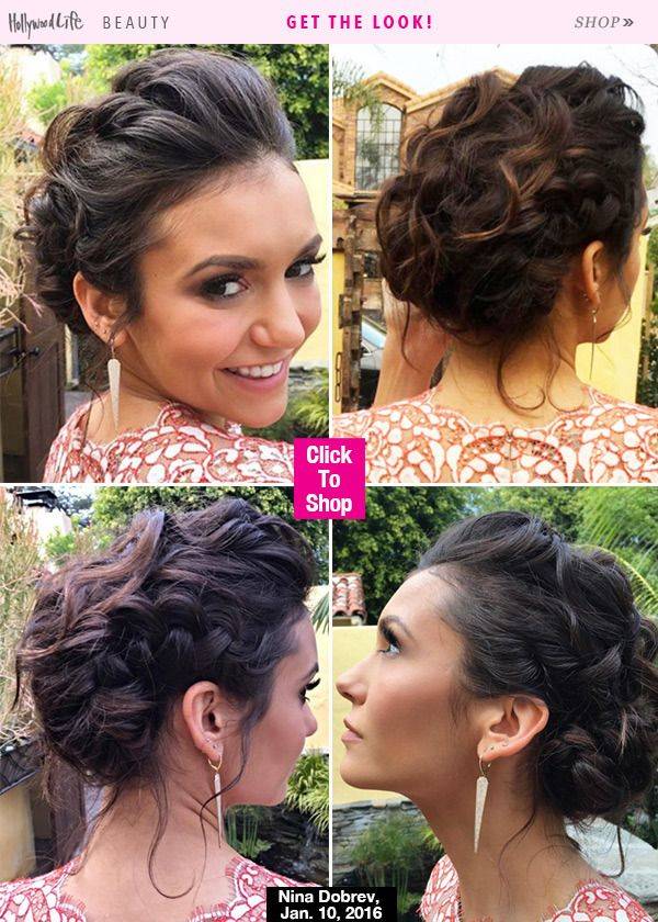 Wow, Nina may have rocked our favorite hair look of the night on Jan. 10 at the Golden Globes after party. It was done by the one and only Riawna Capri, and she's breaking down the look below.