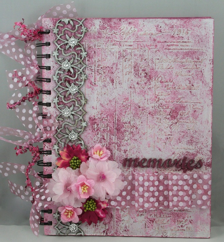 Gorgeous scrapbook album cover (with list of products used)