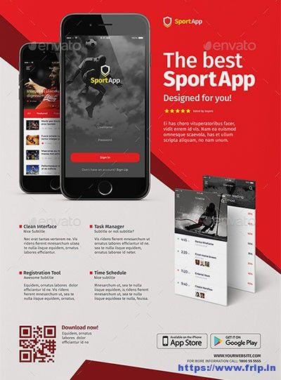 60 best mobile app promotion flyer print templates 2017 ces picks