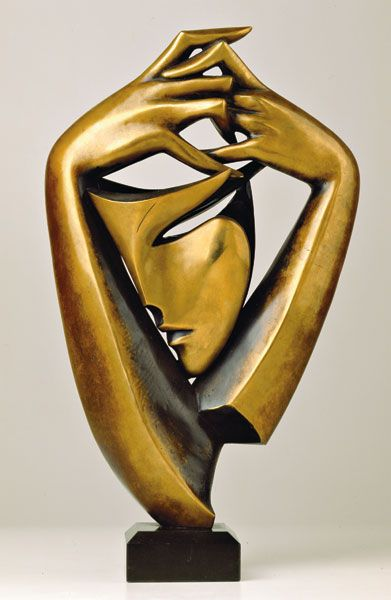 """A little sun in a cold water"" bronze, casting, 45cm, 2001"