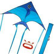 KickFire Soaring Sailfish Premium Delta Kite | Best Kite for Kids | Easy to Fly | Large High Flyer Kites | Ripstop Nylon Fabric | Includes High Quality 100 FT Kite String, Plastic Reel & Kite Bag