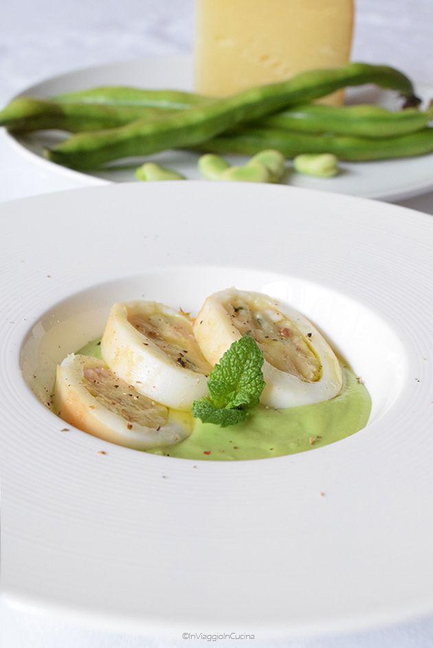 In viaggio in cucina: Calamari ripieni di patate e pecorino su crema di ...