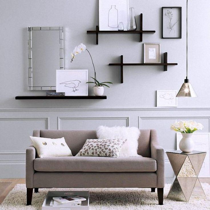 отдельный оформление стены над диваном в гостиной фото главное