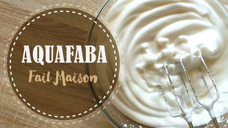 AQUAFABA ||   Blanc en Neige SANS OEUF (Jus de pois chiche fait maison )