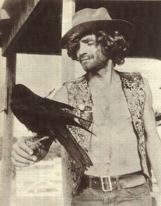 Charles Manson with birdie haha