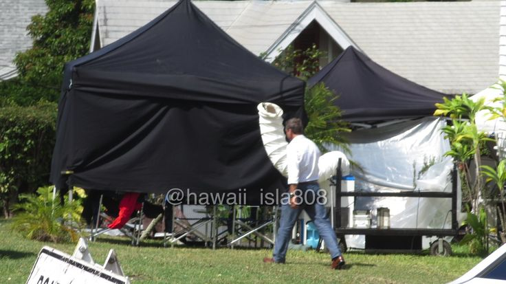 Some BTS footage from working guys on the set of H50, credit in the pictures.