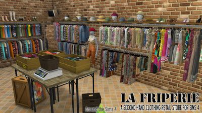 My Sims 4 Blog: La Friperie Second Hand Clothing Store Set by Sand...