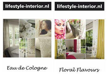 www.onlinegordijnenshop.nl Floral Flavours en Eau de Cologne