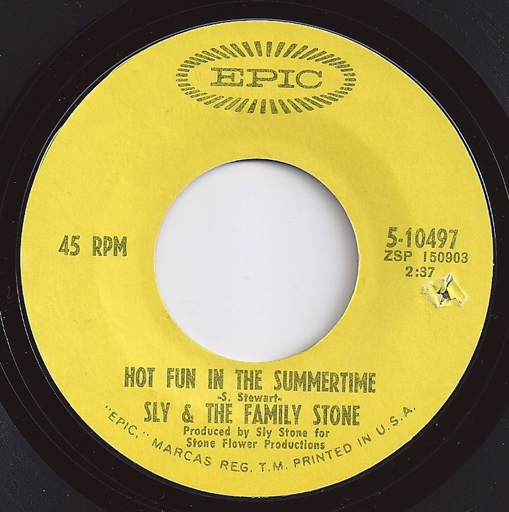 Hot Fun In The Summertime / Sly & the Family Stone / #2 on Billboard