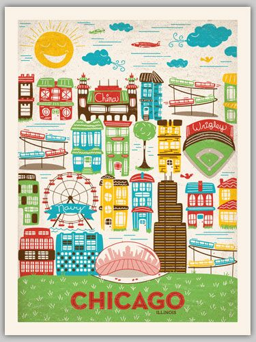 chicago poster print (prints 3)