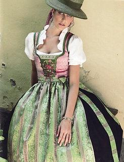 Sportalm Dirndl hat green pink @Marianne Glass Glass Glass Glass Glass Burchard Design Hale @Amber Hale