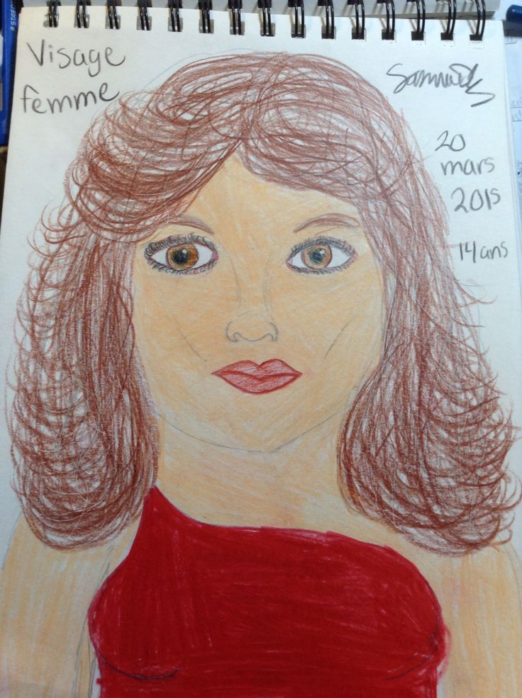 Visage femme dessiner par moi
