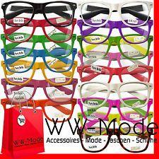 Neu ! Nerd Brille Wayfarer Clear Streber Hornbrille Atzenbrille ohne Stärke