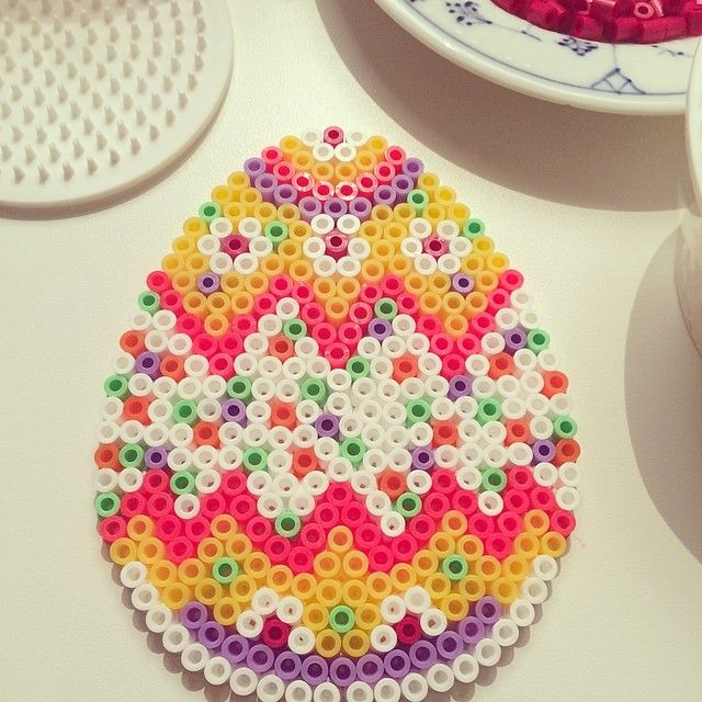 Easter egg hama beads by mitkrearum