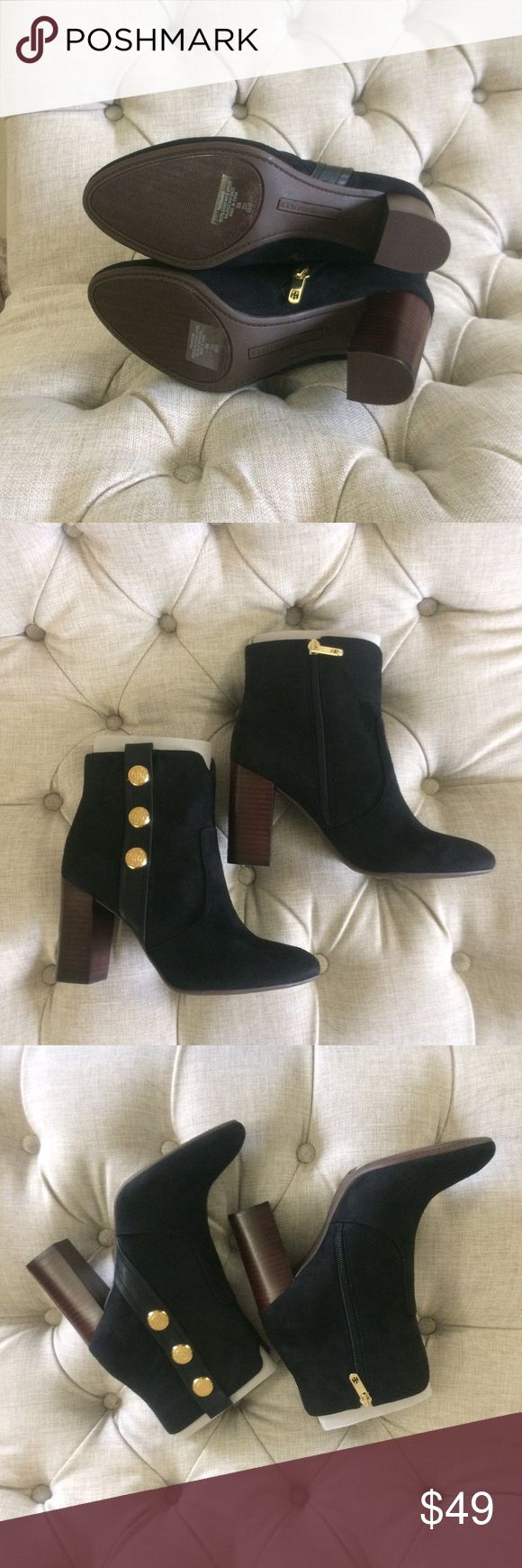 New Tommy Hilfiger Black black ankle boots leather Brand new in box. True to size. Super cute! I got these in every color possible but decided to keep the olive color ones. Unfortunately i have too many black ankle boots :( price firm. Thank u!! Tommy Hilfiger Shoes Ankle Boots & Booties