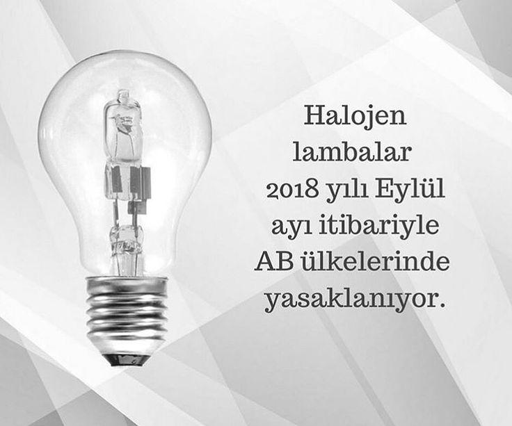 Avrupa Birliği üyesi ülkeler 1 Eylül 2018 itibariyle halojen lamba kullanımına son veriyor. Karbondioksit salınımını azaltacak ve LED aydınlatmalara geçiş yaparak yüksek enerji tasarrufu sağlayacak bu uygulama küresel ısınmayla mücadele için önemli bir adım.  #led #barled #floresan #ledfloresan #armatur #armatür #neon #hortumled #aydınlatma #seritled #led #rgb #magic #adaptör #noas #yusemled #light #ledlights #lighting #mimar #içmimar #architecture #architecturelovers #istanbul #türkiye