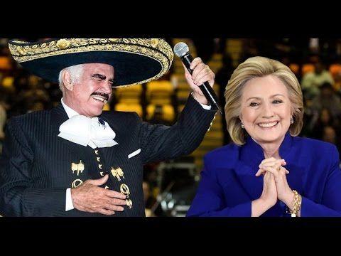 El curioso Apoyo de Vicente Fernández a Hillary Clinton [Le compone Corr...