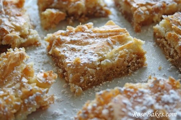 Paula Dean's Gooey Butter Bars - I've been looking for this recipe!