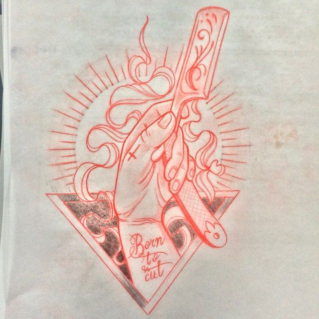 hand razor skecth tattoo