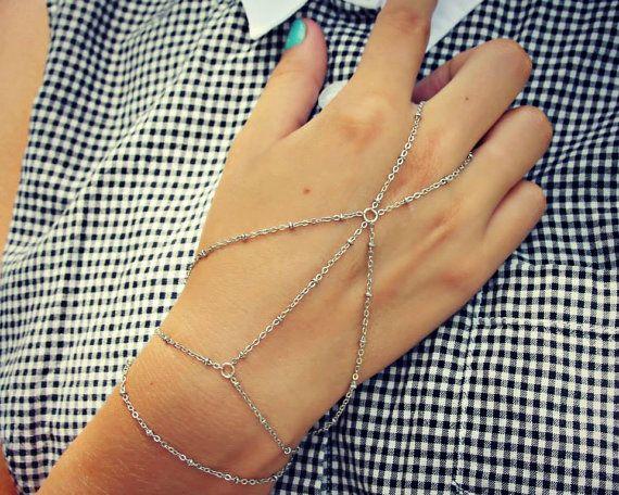 opal slave bracelet bridal jewelry hand piece by alapopjewelry