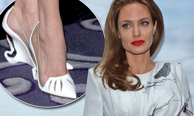 Loving Angelina Jolie's Maleficent-inspired heels, custom- made by Christian Louboutin!