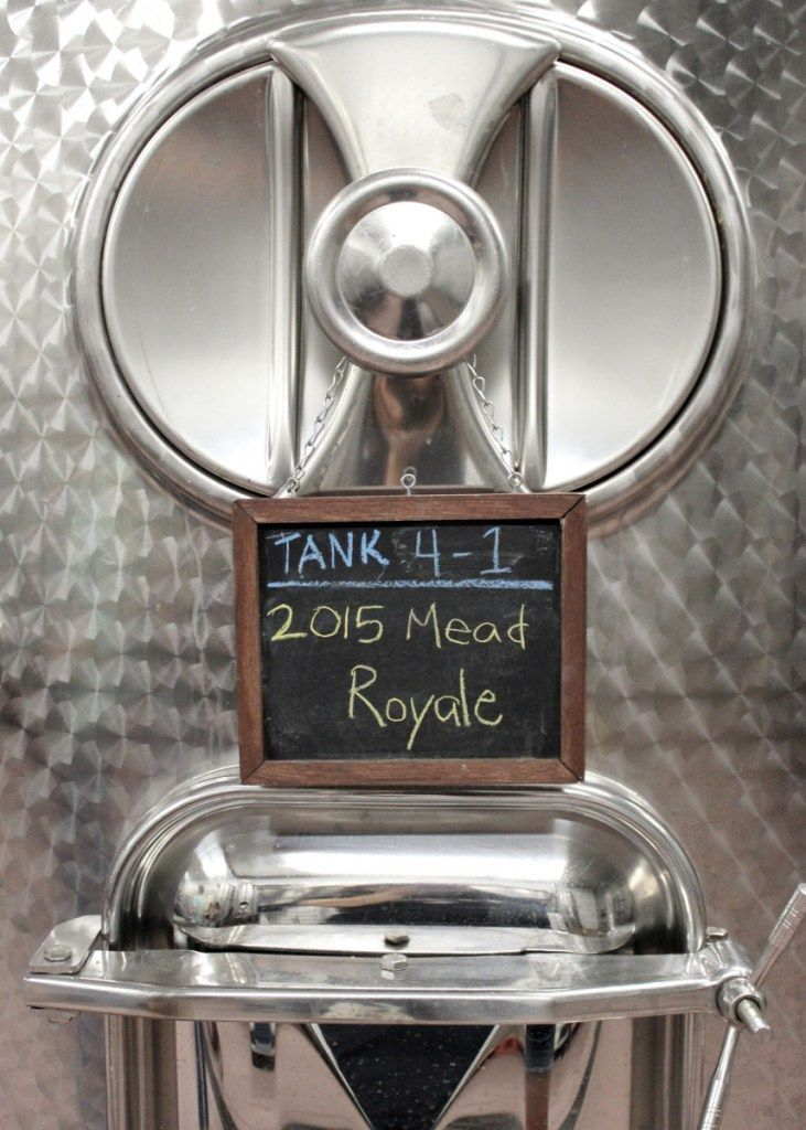 Fermentation tank for Mead royale at Rosewood Vineyards