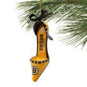 Boston Bruins Team High Heel Shoe Ornament