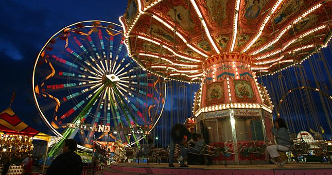 The San Diego County Fair happens in Del Mar each year mid-June through the 4th of July.