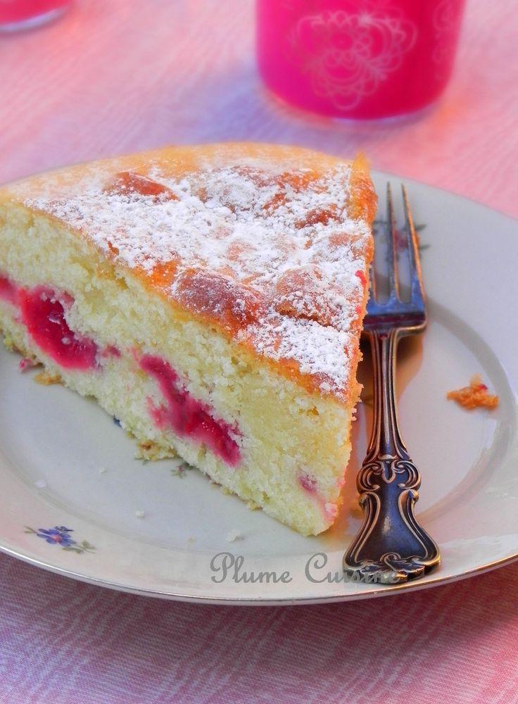 Gâteau-crème-fraîche-et-framboises citron vert 135 g de framboises ...